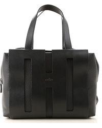 Hogan Top Handle Handbag - Black