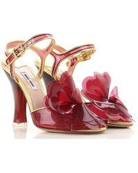 Miu Miu - Sandalen für Damen Günstig im Outlet Sale - Lyst