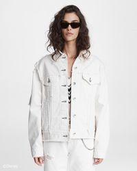 Rag & Bone Cruella Denim Jacket Oversized Fit Jacket - Rb X Disney - White