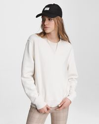 Rag & Bone City Terry Sweatshirt Relaxed Fit Jumper - White