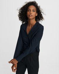 Rag & Bone Victorine Cotton Poplin Shirt Slim Fit Top - Blue