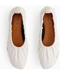 Rag & Bone Elly Flat - Leather Soft Ballet Flat - White