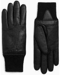 Rag & Bone Leather Gloves Lamb Leather Glove - Black