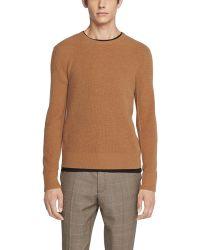 Rag & Bone Kaden Rib Knit Cashmere Pullover - Brown