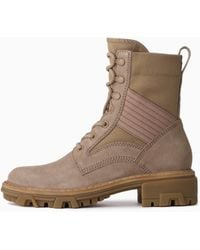 Rag & Bone Shiloh Lace Up Jungle Boot - Suede Combat Boot - Brown