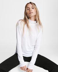 Rag & Bone Gaia Jersey Turtleneck Slim Fit Top - White