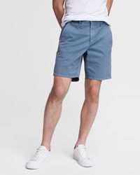 Rag & Bone Classic Cotton Chino Short Slim Fit Short - Blue