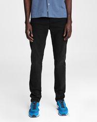 Rag & Bone Fit 1 - Ashland Skinny Fit Worn Black Authentic Stretch Jean