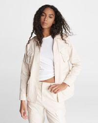 Rag & Bone Field Ohara Cotton Jacket Relaxed Fit Jacket - Multicolour