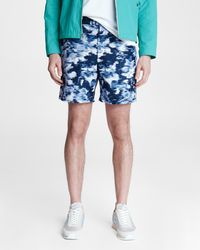 Rag & Bone Eaton Water Resistant Pull On Short Relaxed Fit Short - Blue