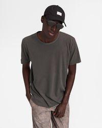 Rag & Bone Haydon Cotton Linen Tee Relaxed Fit T-shirt - Multicolour