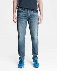 Rag & Bone Fit 2 Hemp Blend - Townsend Slim Fit Mid Indigo Authentic Stretch Jean - Blue