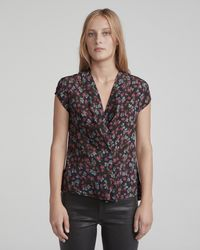 Rag & Bone - Shields Short Sleeve Top - Lyst