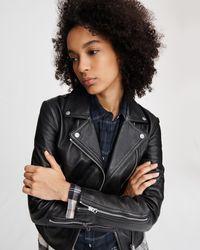 Rag & Bone Mack Leather Jacket - Multicolour