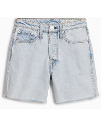 Rag & Bone Maya High Waist Denim Shorts - Blue