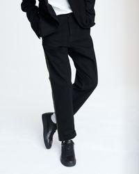 Rag & Bone Selvedge Stripe Jean In Black