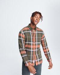Rag & Bone Fit 2 Tomin Shirt - Flannel Slim Fit Button Down - Multicolour