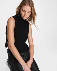 Rag & Bone Adella Cutout Wool Tank - Black