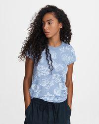 Rag & Bone All Over Hawaiian Slub Tee Slim Fit T-shirt - Blue