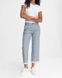 Rag & Bone Buckley Striped Straight-leg Pants - Blue