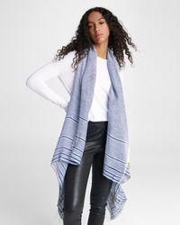 Rag & Bone Kara Playa Linen Blend Vest Lightweight Vest - Blue