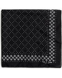 Rag & Bone Medallion Cotton Silk Bandana Lightweight Bandana - Black