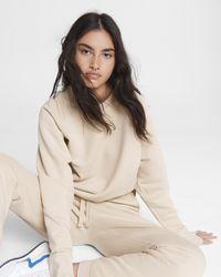 Rag & Bone Fleece Sweatshirt Relaxed Fit Sweater - Pink