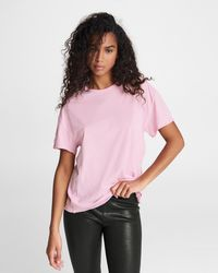 Rag & Bone The Gaia Jersey Boy Tee Relaxed Fit T-shirt - Pink