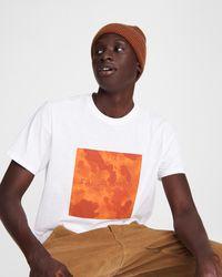 Rag & Bone Camo Box Logo Tee Cotton Jersey T-shirt - White