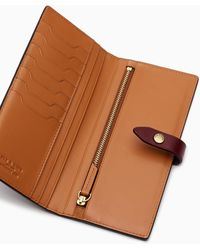 Rag & Bone Passenger Wallet - Nappa Leather Large Wallet - Brown