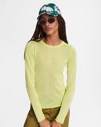 Rag & Bone Ola Viscose Crew Slim Fit Jumper - Yellow