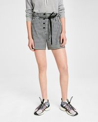 Rag & Bone Black And White Camille Shorts
