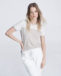 Rag & Bone Summer Linen Tee Slim Fit T-shirt - White