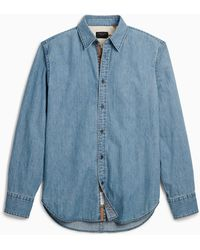 Rag & Bone Fit 3 Denim Shirt - Chambray Relaxed Fit Button Up - Blue