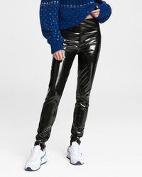 Rag & Bone Nina Vinyl Skinny Pant Slim Fit Pant - Black