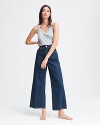 Rag & Bone Ruth Super High-rise Ankle Wide-leg Jeans - Blue