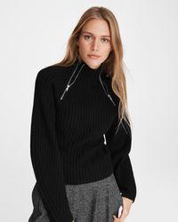 Rag & Bone Olivia Wool Turtleneck Slim Fit Sweater - Black