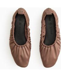 Rag & Bone Elly Flat - Leather And Recycled Materials Soft Ballet Flat - Brown