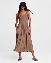 Rag & Bone Dancer Tank Maxi Dress Viscose Dress - Brown