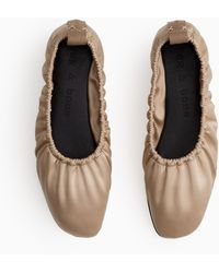 Rag & Bone Elly Flat - Leather And Recycled Materials Soft Ballet Flat - Multicolour
