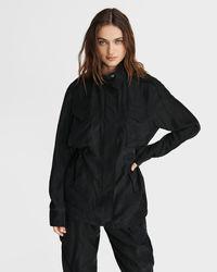 Rag & Bone Roth Silk Field Jacket Classic Fit Jacket - Black