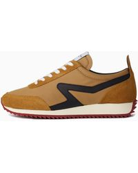 Rag & Bone Retro Runner Leather And Recycled Materials Trainer - Multicolour