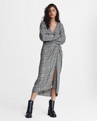 Rag & Bone Amber Midi Dress Rayon Dress - Black
