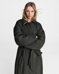Rag & Bone M42 Rikki Down Puffer Trench Classic Fit Coat - Black