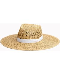 Rag & Bone Open Weave Wide Brim Hat - Natural