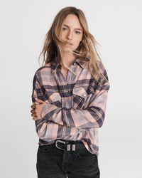 Rag & Bone Cruz Plaid Flannel Shirt - Multicolour