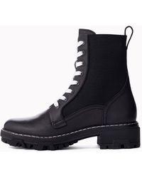 Rag & Bone Shiloh Boot - Leather Combat Ankle Boot - Black