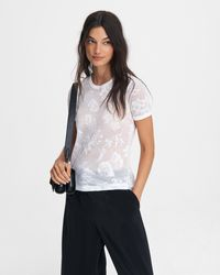 Rag & Bone Valencia Hawaiian Jersey Tee Slim Fit T-shirt - White