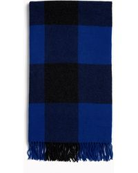 Rag & Bone Buffalo-plaid Wool Scarf - Blue