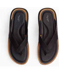 Rag & Bone Parker Thong - Leather Flat Sandal - Black